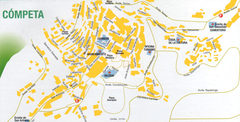Map of Competa