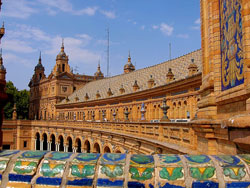 The Plaza D Espana In Seville