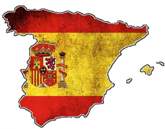 Map of the regions of Spain